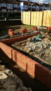 foundations of extension being built