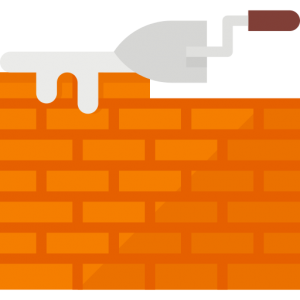 brick laying icon