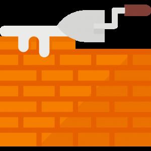 brick laying icon