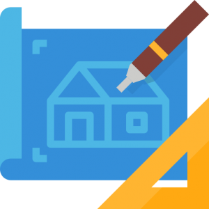 house blueprint icon