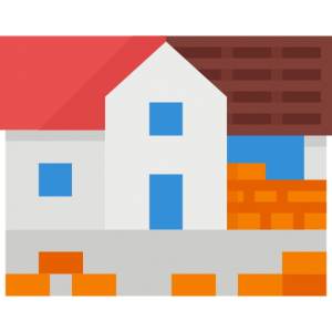 house with extension icon